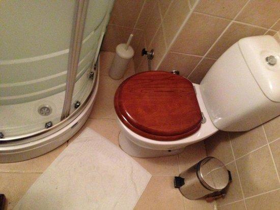 Mevlana Hotel: Bad mit sehr wenig Platz