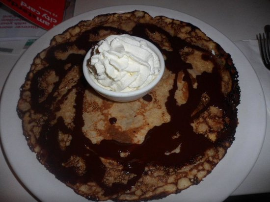 Chocolate Pancake With Whipped Cream Picture Of Pancakes Amsterdam Negen Straatjes Amsterdam Tripadvisor