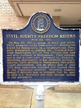 Freedom Rides Museum: Historical Plaque for the Freedom Riders