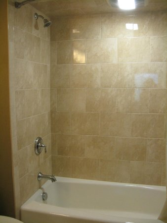 Bushkill Inn & Conference Center: Tub & shower in a suite