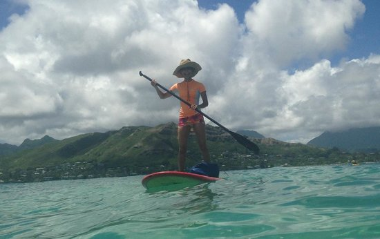 Lanikai Beach Rentals LLC : Standup paddle boarding after launching from down the street of Treehouse