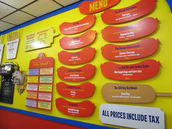 Hot Doug's Inc. : Hot Doug's Menu