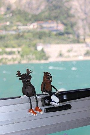 Ferry from Malcesine to Limone and Riva: Swampy and Beefy on the Lake Garda ferry
