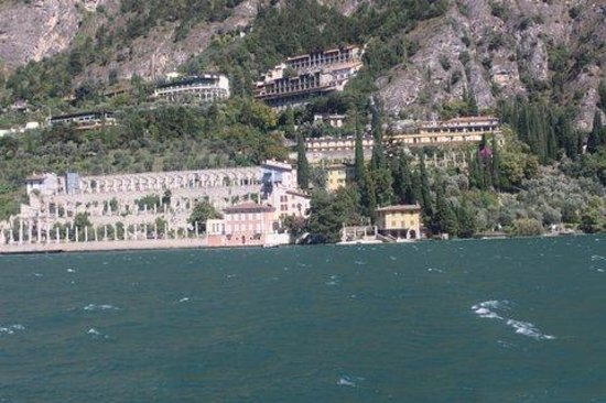 Ferry from Malcesine to Limone and Riva: View from ferry to Limone side of Lake