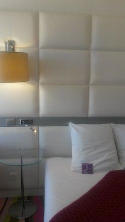 Mercure Le President Biarritz Centre : vue du lit, à l'arrivée