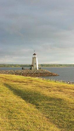 Hefner Lake & Park: The lighthouse, a popular place for pedestrians