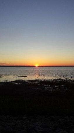 Hefner Lake & Park: Sunset over Lake Hefner, from the lake's east edge