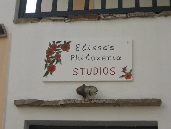 Elisso's Philoxenia: Sign