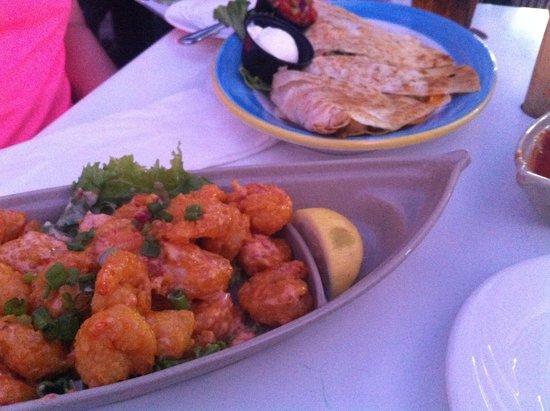 Sloppy Joe's Treasure Island: firecracker shrimp was light and crispy!