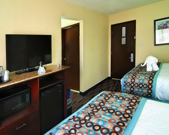 Best Western Plus Elizabeth City Inn & Suites: Enjoy your favorite shows on our LCD Flat Panel TVs.
