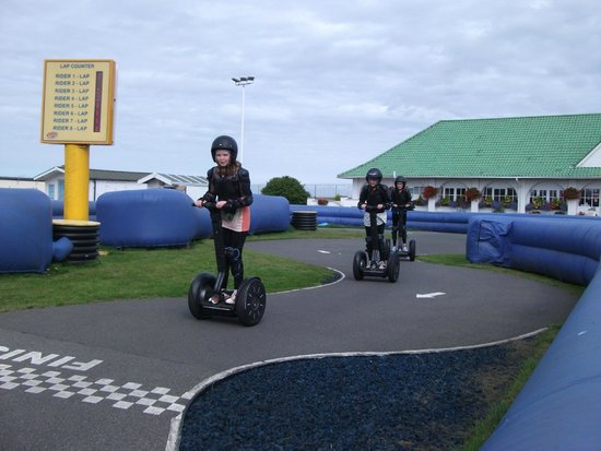 The Pleasure Beach: Segway (costs £5 for 10 laps)