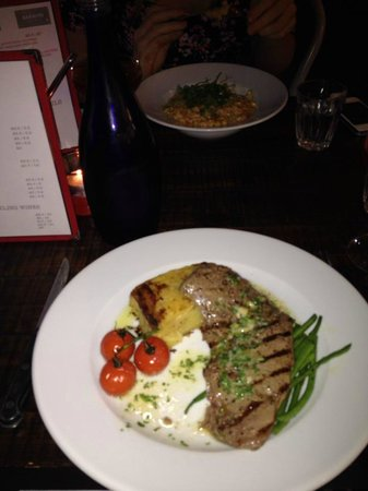 Baravin: Minute steak and crab and chilli risotto