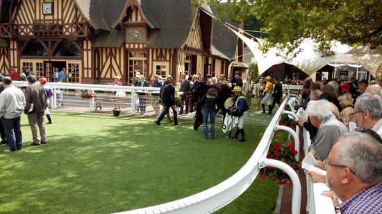 Hippodrome Deauville La Touques : 10 mn avant le départ...