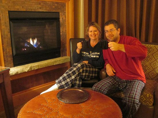 """Wyoming Inn of Jackson Hole: We used this picture to post to facebook to our friends """"Good Morning, enjoy your day."""""""