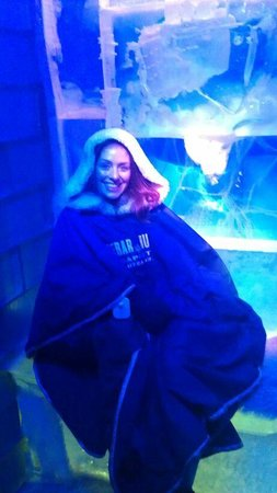 Icebar Budapest: Enjoying a seat in the Icebar