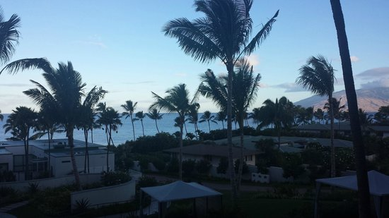 Andaz Maui At Wailea: View looking off our balcony (3rd floor, ocean view)