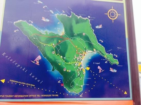 Lopud Island : Lopud - Sunset is 'Benesin Rat'