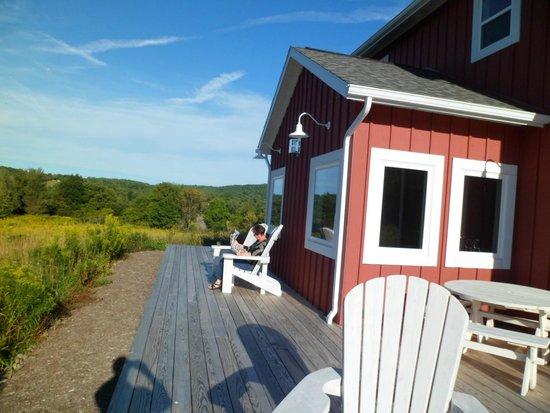 Mountain Horse Farm B&B and Wellness Retreat: Coach house porch