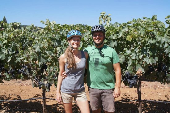 Wine Country Bikes: Me and Shawn on our tour.
