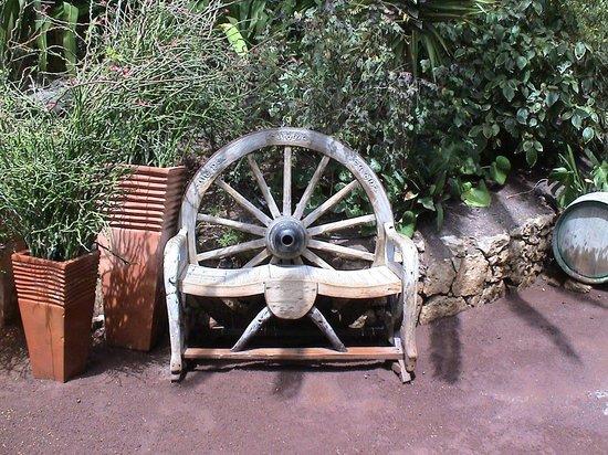 Rancho Texas Lanzarote Park: a place to rest a horse carriage wheel