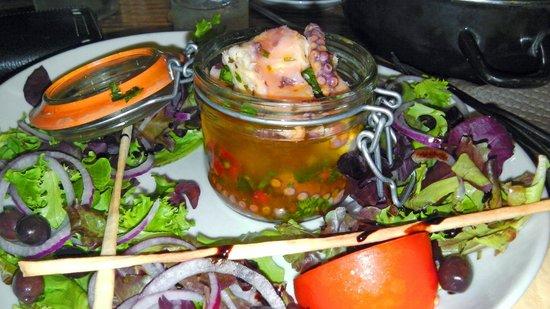 Le Cigalon Plage: Salade de Poulpe