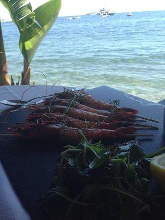 Anjuna Plage Privee - Restaurant : shrimp in the sun