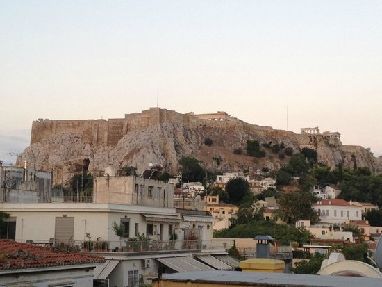 Electra Palace Athens: View of Acropolis from our room's balcony