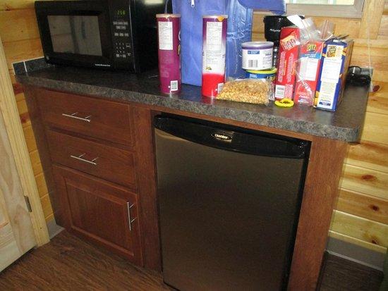 Nashville KOA: little kitchenett......