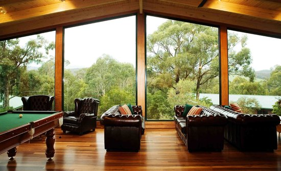 Yarra Valley Estate: Picture window looks out over the gardens