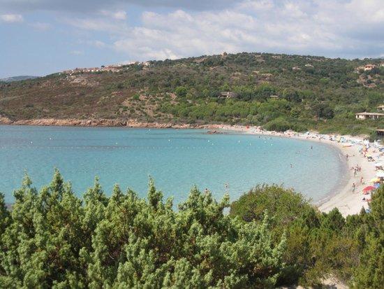 Plage de Palombaggia : vista della baia (parte sud) dalla collinetta sovrastante