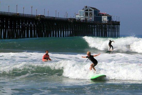Surfin Fire Surf School: Oceanside pier NS W/ his Surfin Fire Coach