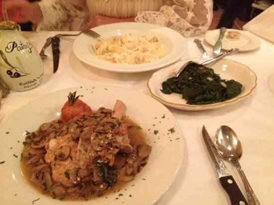 Patsy's Italian Restaurant : stuffed beal chop and pumpkin tortelloni