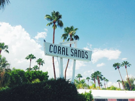 Ruby Montana's Coral Sands Inn: Cool sign with little bird perching + palm trees
