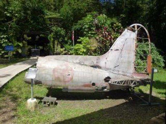 Guam Pacific War Museum: 撃墜されたゼロ戦