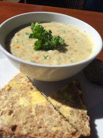 Hislops Wholefood Cafe : Seafood Chowder