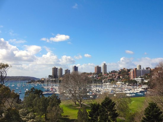 Vibe Hotel Rushcutters Bay Sydney: View from top of hotel across Rushcutters Bay