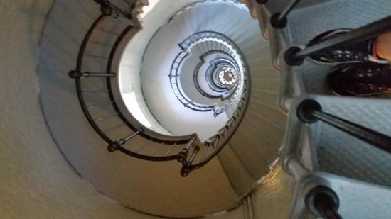 Ponce de Leon Inlet Lighthouse & Museum: we were almost to the top of the lighthouse.  picture is looking down from the top