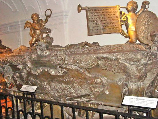 Capuchin Church (Kapuzinerkirche) : detail of Habsburg sarcophagus