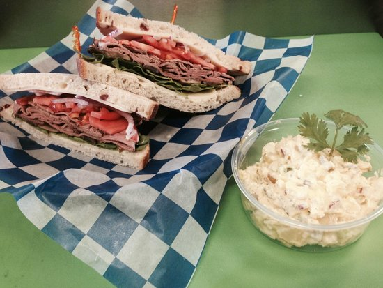 West Side Deli : Frat House with Classic Potato Salad side