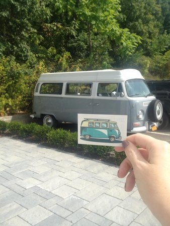 Hotel Dylan: VW bus + Tattly tattoo!