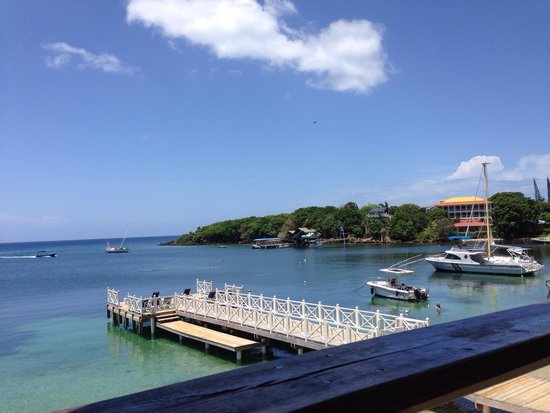 """The Landing Restaurant & Bar: Awesome view from """"The Landing"""", West End, Roatán."""