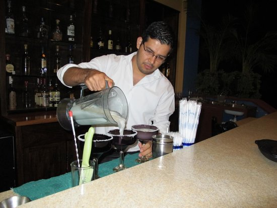 La Villa del Ensueno Hotel : Christofer making the best Margaritas of Mexico!