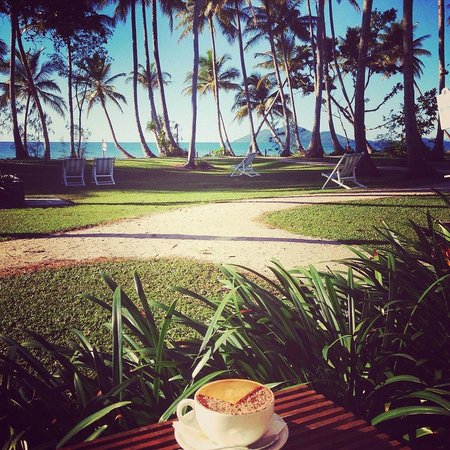 Castaways Resort & Spa Mission Beach: Coffee with a view
