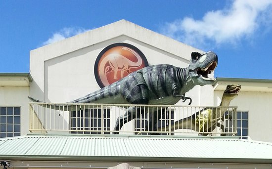 National Dinosaur Museum: Dinosaurs on the roof