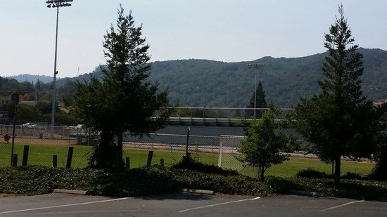 Los Gatos Lodge : High School Stadium at the back of the property
