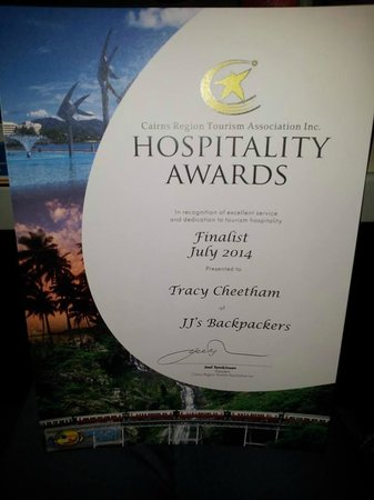 JJ's Backpackers Hostel: Great Customer Service Award