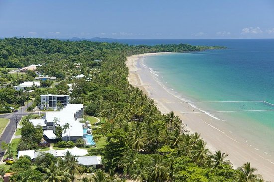 Castaways Resort Spa Mission Beach Aerial View Of The