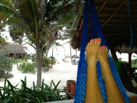 Tita Tulum Hotel Ecologico: View from our hammock