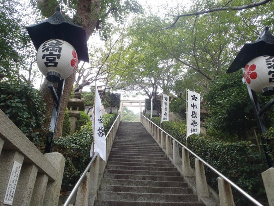 Kobe Kitano Temman Shrine : 階段