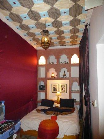 Riad Kenzo : La chambre décorée avec goût